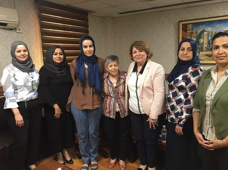 Tammuz Organization participates in delegation of Iraqi Women Network to visit Iraqi Foreign Ministry