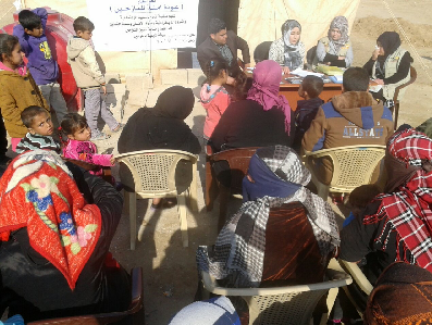 For a secure return of the displaced , Tammuz Organization for Social Development holds two seminars at the  Al-khaldiyah camps in  Al-anbar province