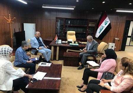 Tammuz Organization Participates in Iraqi women's network delegation to visit legal committee member in Iraqi Parliament
