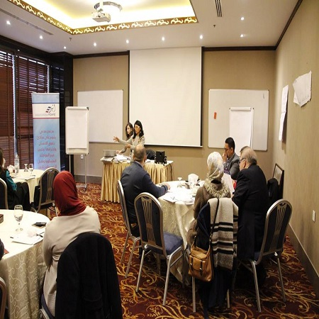Tammuz Organization for Social Development participates at the consultative meeting of Arab network for civic education in Jordan- Amman